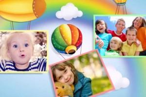 Детское слайд-шоу из фотографий