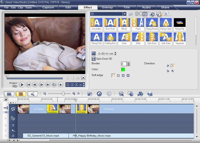 Видеоредактор Ulead Video Studio 11.5 Plus