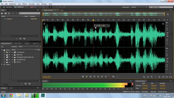 Запись звука Adobe Audition