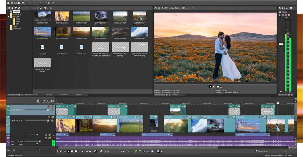 Обучение видеомонтажу в Sony Vegas Pro