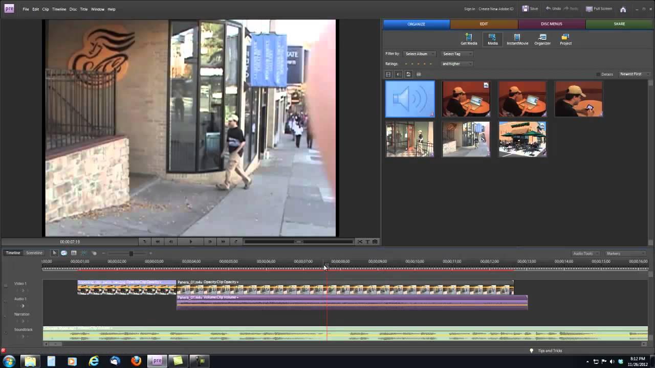 Видеомонтаж в Adobe Premiere Elements